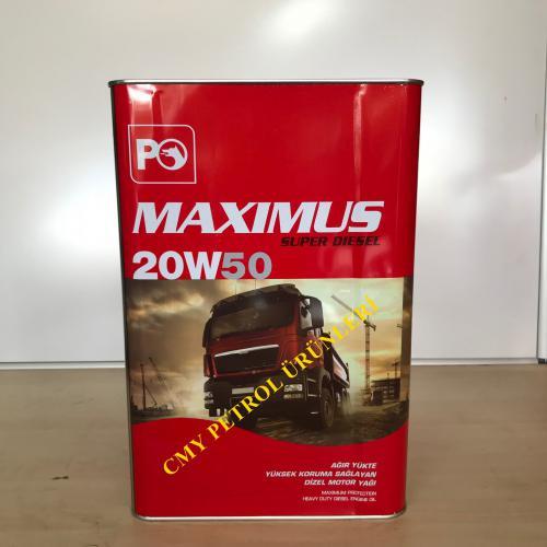 MAXIMUS SÜPER DİZEL 20W50 (16 KG-17,5 KG-180 KG)